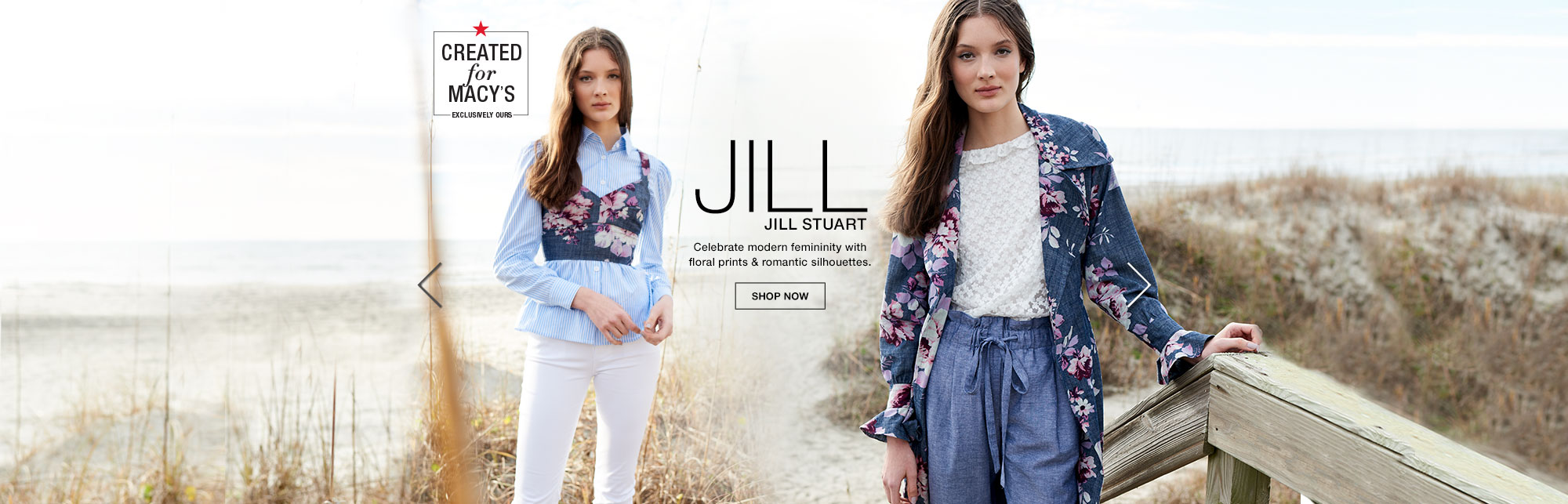 Jill Jill Stuart. Celebrate modern femininity with floral prints and romantic silhouettes.