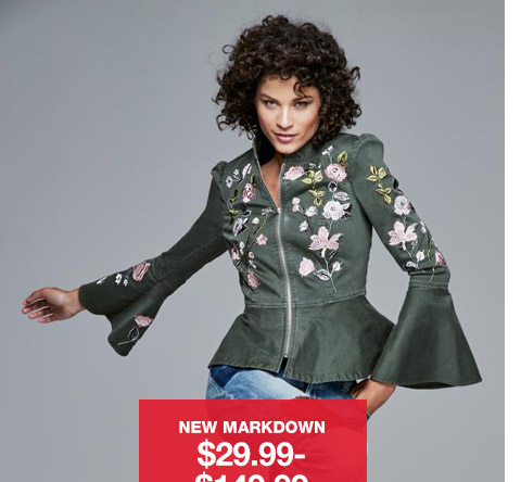 new markdown $29.99 to $149.99 womens styles. regular $50 to $450. select styles.