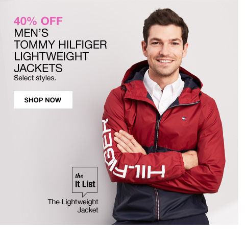 40 percent off mens tommy hilfiger lightweight jackets select styles. The it list the lightweight jacket.
