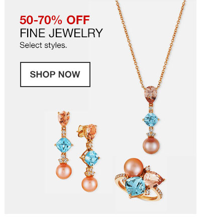 50 to 70 percent off fine jewelry. Select styles. Shop Now.