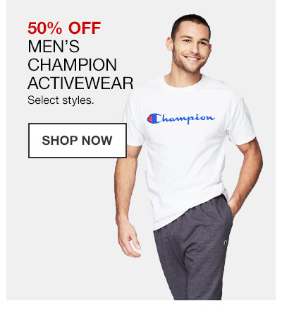 50% off Men's Champion Activewear. Select styles. Shop Now.