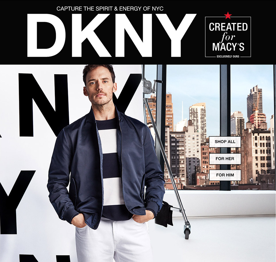 capture the spirit and energy of nyc. dkny. created for macys. exclusively ours.