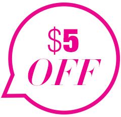 $5 off